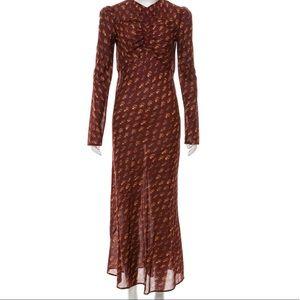 Doen Begonia Oxblood Lightweight Maxi Dress S